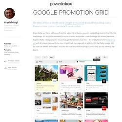Google Promotion Grid - PowerInbox
