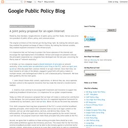 Google's blog post annnouncing the proposal