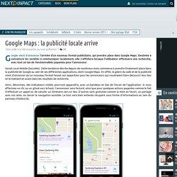 Google Maps : la publicité locale arrive