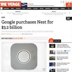 Google purchases Nest for $3.2 billion