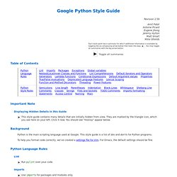 Google Python Style Guide