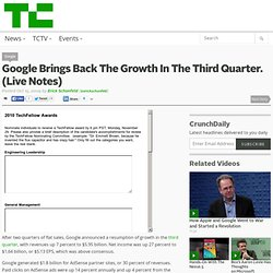 Google Brings Back The Growth In The Third Quarter. (Live Notes)