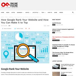 How Google Rank Your Website and How You Can Make it to Top