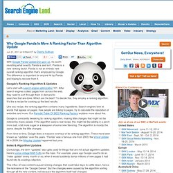 Why Google Panda Is More A Ranking Factor Than Algorithm Update