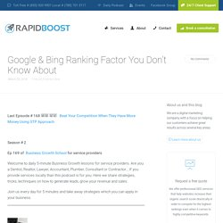 Ranking factors of Google by Seo Expert