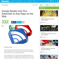 Google Reader Lets You Subscribe to Any Page on the Web