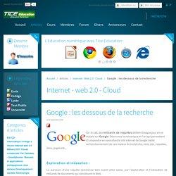 Google : les dessous de la recherche