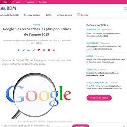 Google : les recherches les plus populaires de l'année 2019