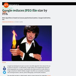 Google reduces JPEG file size by 35%