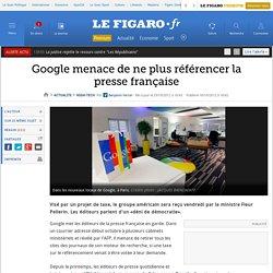 Google menace de ne plus référencer la presse française