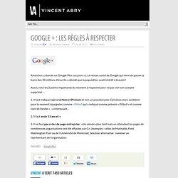 Google + : les règles à respecter