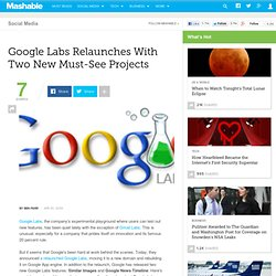 Google Labs Relaunches With Two New Must-See Projects