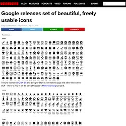 Google releases set of beautiful, freely usable icons