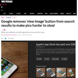 Google removes 'view image' button from search results to make pics harder to steal