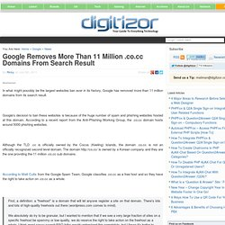 Google Removes More Than 11 Million .co.cc Domains From Search Result