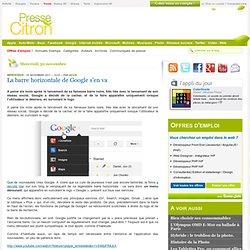 La barre Google remplacée par un menu déroulant