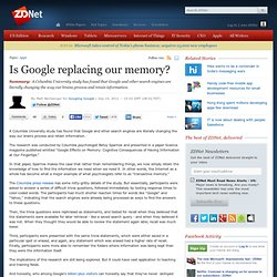 Is Google replacing our memory?