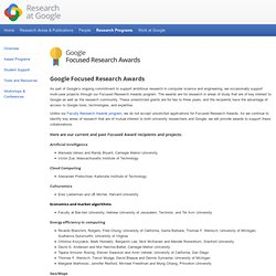 Focused Research Awards