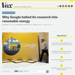 Why Google halted its research into renewable energy