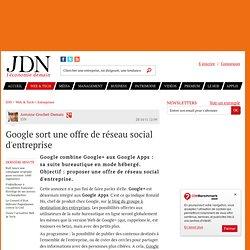 Google sort une offre de réseau social d'entreprise - Journal du Net Solutions