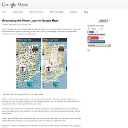 Revamping the Photo Layer in Google Maps