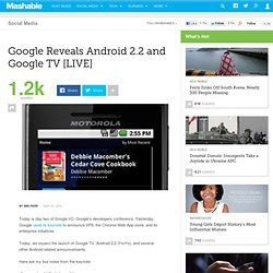 Google Reveals Android 2.2 and Google TV [LIVE]