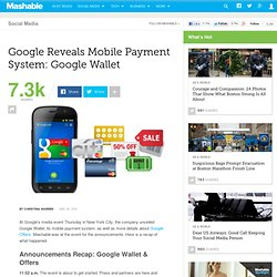 Google Reveals Mobile Payment System [Live Blog]