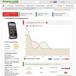 Découvrez la Cote argus du mobile du HTC Google Nexus One et vendre son portable