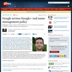 Google revises Google+ real name management policy