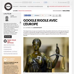 Google rigole avec l'Europe
