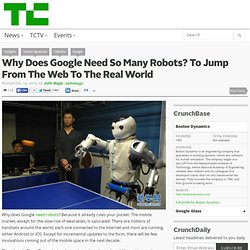 Why Does Google Need So Many Robots? To Jump From The Web To The Real World