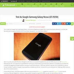 Test du Google-Samsung Galaxy Nexus (GT-I9250)