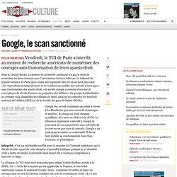 Google, le scan sanctionné