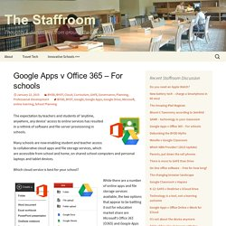 Google Apps v Office 365 – For schools