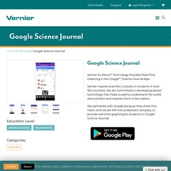 Google Science Journal & Vernier Sensor (2020)
