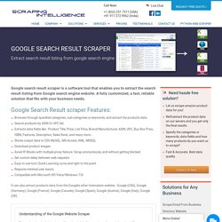 Google Search Result Scraper, Google Data Extractor, Scrape Google Result