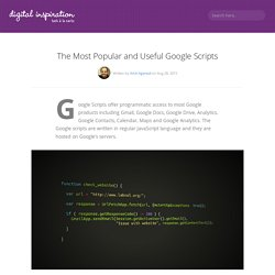 Google Apps Scripts Collection - The Best Google Scripts