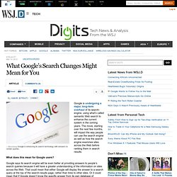 What Google's Search Changes Might Mean for You - Digits