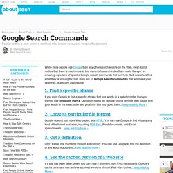 Google Search Commands - 13 Google Search Commands You Need to Know