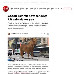 Google Search now conjures AR animals for you