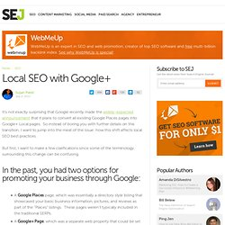 Local SEO with Google+