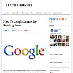 How To Google Search By Reading Level