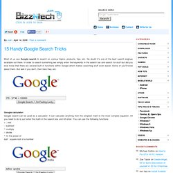 15 Handy Google Search Tricks | BizzNtech - Flock