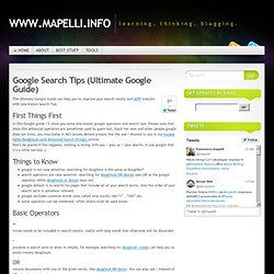 Google Search Tips (Ultimate Google Guide)