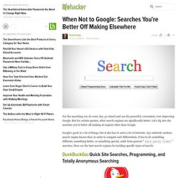 When Not to Google: Searches You're Better Off Making Elsewhere