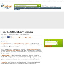 15 Best Google Chrome Security Extensions