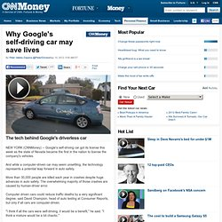 Why Google's self-driving car may save lives - May. 10