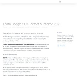 Google SEO Factors & Ranked 2021