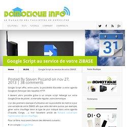 Google Script au service de votre ZiBASE