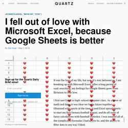 Google Sheets is now better than Microsoft Excel for common tasks
